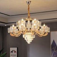 Oda Ana Kristal Lambası Modern Yemek Avrupa Tarzı Salon Dekorasyon Işıklar Avize Atmosfer Avize Aydınlatma led