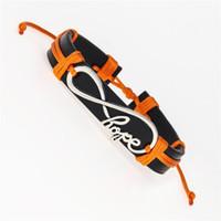 Tennismode Frauen Elegant Antike Infinity Hope Charm Leder Wish Armbänder Schmuck Geschenke für Papa