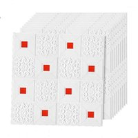 3D потолочные кирпичные стены наклейки гостиной спальня самоклеющиеся обои водонепроницаемые стены украшения1