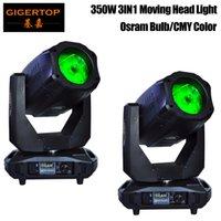 2pcs / lot Sharpy 17r Moving Head Light feixe 350W 3in1 CMY movendo cabeças luzes PARA pequena festa em casa Home Entertainment
