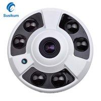 MINI Caméra intérieure 5MP 6pcs Array IR LED Distance 30M 180 degrés de vision nocturne Accueil Caméra de surveillance HD CCTV