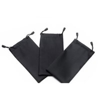 100 pcs saco de óculos moles com pano de limpeza Microfibra poeira impermeável armazenamento bolsa óculos carregam saco porta SQCTKW COMECASE