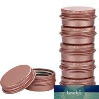 100pcs 5g 10g 15g 30g Esvaziar Mini Rose ouro alumínio Creme Jar Pot Nail Art Maquiagem Lip Gloss Esvaziar Cosmetic metal latas Containers