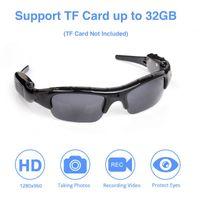Gran angular gafas de sol de la cámara Mini DV Eyewear DVR Video Recorder deportes al aire libre micro videocámara TF tarjeta de apoyo de los vidrios de conducción