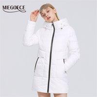 Miegofce зимняя новая женская хлопковая куртка недиевая длина простая ветрозащитная куртка женские пальто моды стильные женщины Parkas 201022