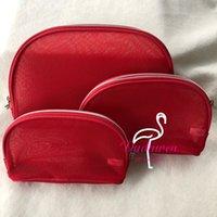 مجموعة من 3 حقيبة ج م أزياء شبكة حقيبة ندفة الثلج سستة المطبوعة إلكتروني ماكياج أو القرطاسية تخزين حالة الكلاسيكية مكتب قلم رصاص حقيبة كيس VIP هدية