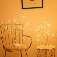 LED Night Light Mini Рождественская елка Медная проволока гирлянда лампа для дома Детская спальня декор Fairy Lights Luminary Holiday Lighting
