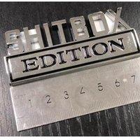 1 قطعة / الوحدة شحن مجاني ABS ملصقا ل shitbox طبعة شارة شعار شعار شعار ملصقا