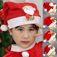 Navidad New Year Thick Plush Christmas Hat Kids Children Christmas Decorations For Home Santa Claus Gift Warm Winter Hat