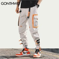 Gonthwid múltiples bolsillos de carga harem jogger pantalones hombres hip hop moda casual pista pantalones streetwear Harajuku Hipster Sweetpants 201114