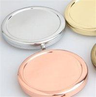 Косметика для рук Зеркала Компактный Косметические многоцветной DIY Зеркало Круглый Fold Оригинальность небольшой подарок Solid Metal Base 4 3RL M2