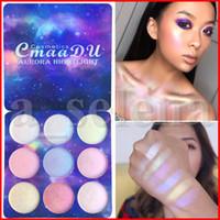 Cmaadu 9 اللون تمييز الوجه ماكياج عينيه أضئ تغطية محيط العين مستحضرات التجميل لوحة