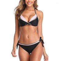섹시한 비키니 2020 여성의 2 피스 수영복 삼각형 비키니 탑 수영복 여성 건방진 바닥 목욕 수미 Beachwear US / EU Size1