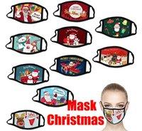 Masques anti-mode masques de mode de Noël masques imprimés poussière de Noël flocon de noël couvre-bouche lavable réutilisable