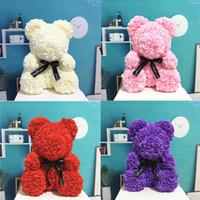 Sıcak Satış PE Plastik Yapay Çiçekler Gül Ayı Köpük Gül Çiçek Teddy Bear Sevgililer Günü Hediyesi Doğum Günü Partisi Bahar Dekorasyon