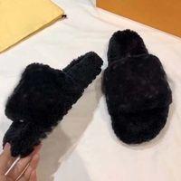 Nueva señoras de piel de oveja de lana de invierno deslizador caliente piel de una sola pieza de lana de cordero y planas de caucho resistente al desgaste confortables zapatillas 35-46 con la caja