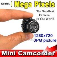 Y2000 200W micro câmera portátil HD CMOS 2.0 Mega Pixel Pocket Video Audio Digital mini filmadora 640 * 480 480P DV DVR 720P1