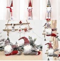 15 Stile di Natale ornamenti decorazioni inarcamento della tenda Tieback Santa Snowman Holdback Fastener fibbia morsetto