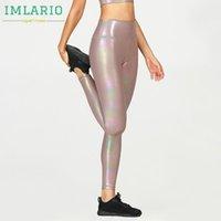 IMLARIO Işıltılı Egzersiz Tozluklar Yüksek Rise Yoga Spor Çömelme Pantolon Parlak Kadınlar Sıkıştırma Gym Dans Aktif Tayt Spor