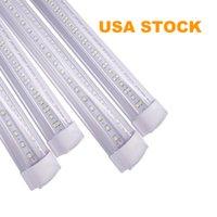 V-formé T8 intégré blanc froid blanc couleur 4ft 5ft 6ft 8ft de portes de refroidisseur LED Tubes de lumière lumière double côtés SMD2835 LED Shop lumières 110V