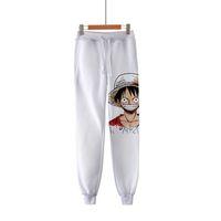 Anime One Piece 3D Print Hip Hop Sportswear Лодыжка Длина Брюки Повседневные Сферы Фитнес Журья Мужские Брюки Уличные Брюки T200706