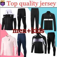 los hombres + de los niños 2020 2021adult correr el entrenamiento de fútbol los hombres de traje chaqueta de chándal de fútbol 20 21 Survêtement de fútbol chándal de Fútbol