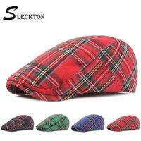 Berretti Sleeckton Plaid Hat per uomo e donna Fashion FRANCIA BAC PACIA PIATTO UNISEX Capy Caps Caps Visiere estive Gorras Dad