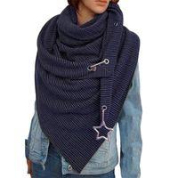 158cm Luxury Thick Scarves Shawls Women Winter Warm Stripe Shawl Cloak Thick Blankets Tassel Scarf Holiday Gifts