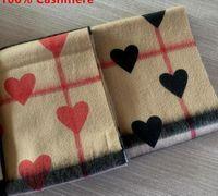 2020 moda inverno coração vermelho 100% lenço de cashmere para mulheres e homens clássicos cashmere lenço no cheque e coração designer infinito lenços xaile