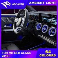Para a classe GLB 64 cores LED luz ambiente iluminado Acessório de carro interior1