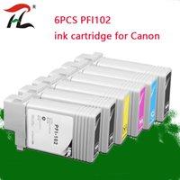 インクカートリッジ6ピーPFI102 PFI 102カートリッジCANON IPF500 IPF610 IPF700 IPF710 IPF605リフィルタンク