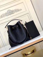 M45555 Neonoe MM دلو حقيبة أزياء المرأة مطبوعة الجلود الصليب الجسم دلو الكتف حقيبة حمل حقيبة يد محفظة مصغرة pochette accessoires