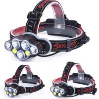 50000LM Scheinwerfer T6 + rot COB LED Kopflampe USB Rechargeabl-Kopf-Licht 8 Modi Laterne Beleuchtung Torch + 18650