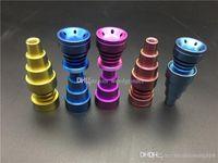 красочный Универсальный 10мм 14мм 18мм мужской женский 6in1 Domeless Titanium Titanium Nail GR2 Гвозди для стекольной нефтяной вышке бом водопроводные трубы стеклянные