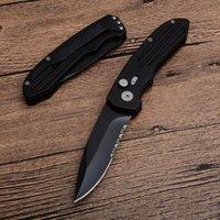 Haute qualité SW50BS de survie auto tactique couteau pliant 440C noir demi dentelure lame en aluminium avec poignée retial boîte Packa Livraison gratuite
