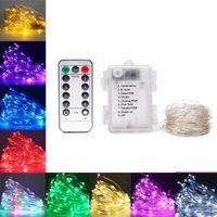8 режимов 5 м 10 м красочные пульты дистанционного управления светодиодные сказочные струны огни для рождественских праздников дома украшения