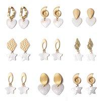 Danning Chandelier Fashion Dichiarazione Orecchini Handmade Geometrico Bianco Shell Beaks Forma di cuore Delle Donne Delle Donne Donne Signore Gioielli eleganti