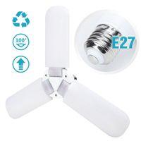 Ventilateur de plafond à la mode Fieldable LED Trefoil Light Ampoule Super Ventilateurs lumineux Couloir de ménage