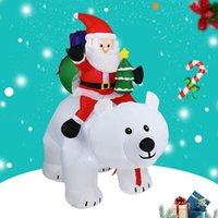 زينة عيد الميلاد 1.8 متر led نفخ سانتا كلوز ثلج دمية حديقة لعب للأطفال هدية حزب السنة ديكور المنزل