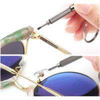 3 in 1 Brillen Schraubendreher Keychain Reparatur Gläser Watch telefon Dreifache Vielseitige Kleine Schraubendreher Brillen Mini SC Jllwgb MX_HOME