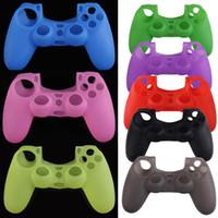 8 Farben Camo weiche Silikon-Gel-Gummi-Kasten-Haut-Griff-Abdeckung für PS4 Wireless Controller-Kasten-Haut-Griff-Abdeckung Spiel-Controller