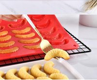 Baking Moulds Crescent Shape Fondant Molds Silicone Baking M...