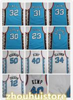 Homens personalizados Mulheres Crianças Basquete East 1996 Estrela Jersey 50 Robinson 31 Miller 33 Ewing 30 Pippen Kemp Hill Stockton 23 Retro Jersey