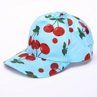 Vente en gros - 2017 vente chaude été nouveau fruits motif chapeau de baseball chapeau de baseball imprimé courbé oreilles solaire chapeaux femmes hip hop chapeaux fille casquette1