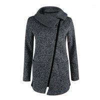 Ceket Kaban Kış Sıcak Bayan Rahat Yüksek Yaka Ceket Kaban Uzun Fermuar Kazak Dış Giyim Kadın Chaqueta Mujer1 Tops