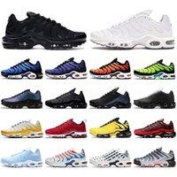 TN erkekler kadınlar için Ayakkabı Koşu üçlü siyah beyaz Gerilim Mor Hiper Mavi Deluxe tenis erkek eğitmenler açık hava spor sneaker CHAUSSURES