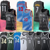 34 Giannis 13 Harden 7 Kevin Irving Durant AntetokounMpo 11 Kyrie College 2021 New Men City Basket Bales Blay