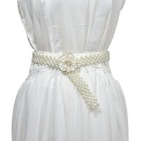 Dress Pearls Wedding Belt Handmade Crystal Bridal Sash Simpl...