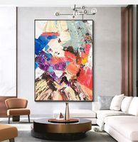 Peinture à l'huile lourde colorée peinte à la main sur toile Lienzos Cuadros Decorativos peinture peinture murale peinture décorative salle de séjour