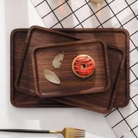 Rechteck Holzplatte Set Premium-Akazienholz Kuchenteller Geschirr Dessert Serviertablett Holz Sushi Teller Geschirr Geschirr.